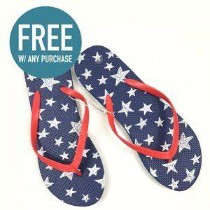 FREE Star Spangled Thong Flip Flops Medium 7/8